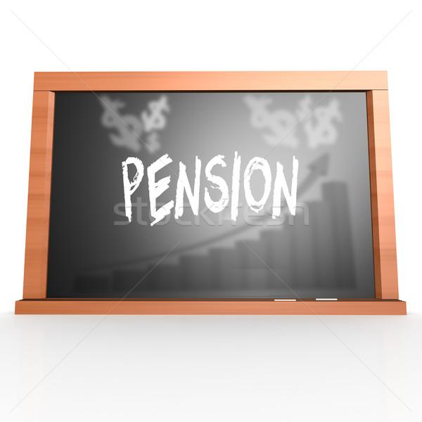 Pension mot image rendu Photo stock © tang90246