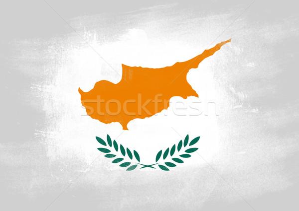 флаг Кипр окрашенный щетка твердый аннотация Сток-фото © tang90246