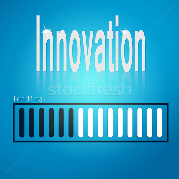 Innovation blue loading bar Stock photo © tang90246