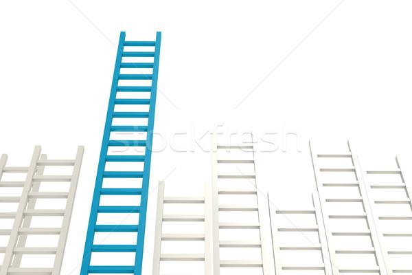 Blue ladder among white Stock photo © tang90246