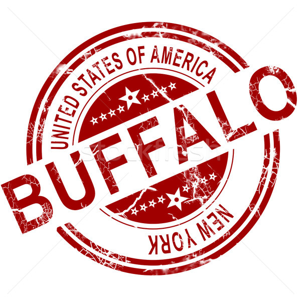 Buffalo stamp with white background Stock photo © tang90246