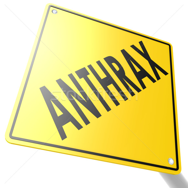 Road sign with anthrax Stock photo © tang90246