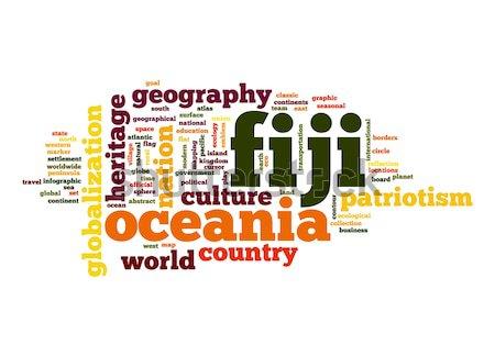Fiji nuvem da palavra negócio mundo nuvem planeta Foto stock © tang90246