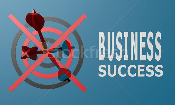 дартс совета синий бизнеса успех Сток-фото © tang90246