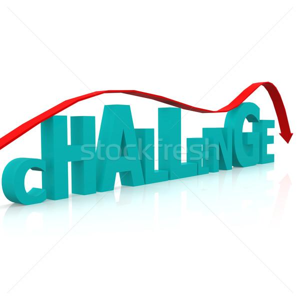 Kihívás üzlet háttér kék siker ötlet Stock fotó © tang90246