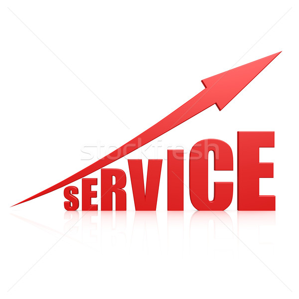 Service red arrow Stock photo © tang90246