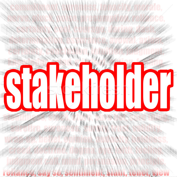 Stakeholder word cloud Stock photo © tang90246