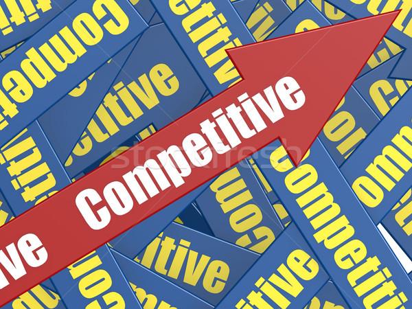 Competitivo arrow immagine reso usato Foto d'archivio © tang90246