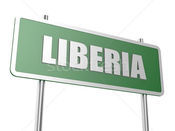 Libéria imagem prestados usado design gráfico Foto stock © tang90246