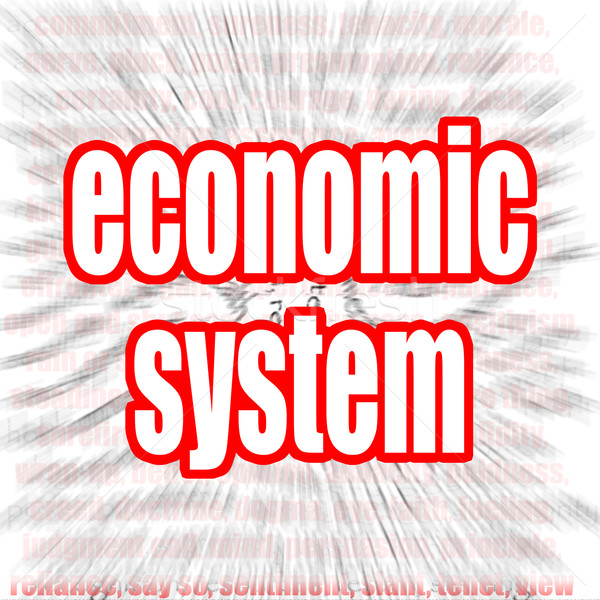 Economisch woordwolk afbeelding gerenderd gebruikt Stockfoto © tang90246