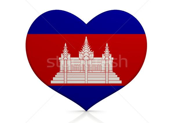 Cambodja hart achtergrond reizen land concept Stockfoto © tang90246