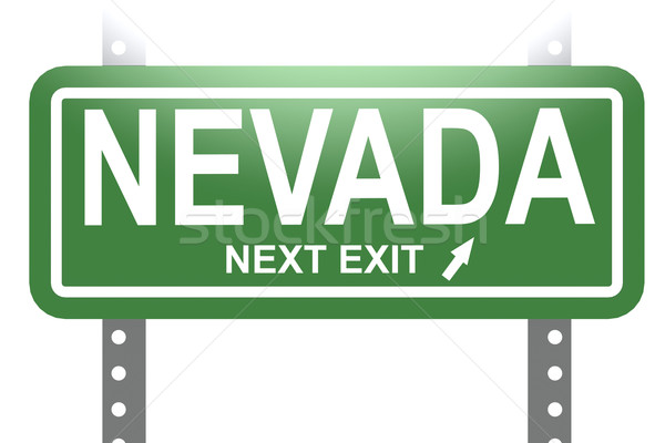Nevada green sign board isolated  Stock photo © tang90246