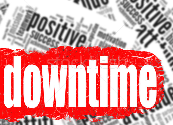 Word cloud downtime Stock photo © tang90246