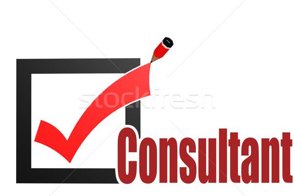 Verificare consulente parola immagine reso Foto d'archivio © tang90246