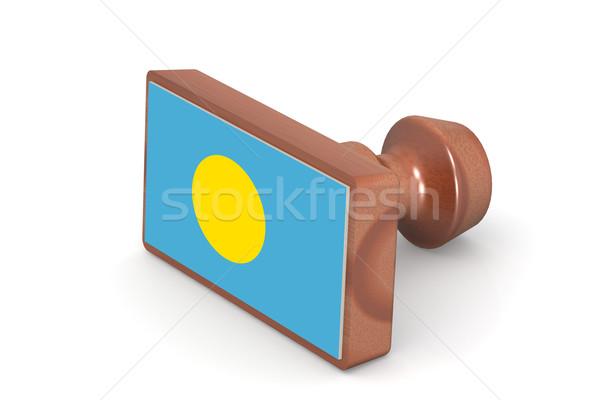 木製 スタンプ パラオ フラグ 画像 レンダリング ストックフォト © tang90246