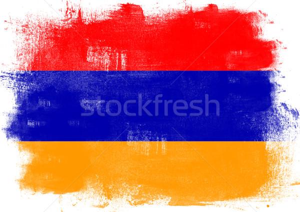 Bayrak Ermenistan boyalı fırçalamak katı soyut Stok fotoğraf © tang90246