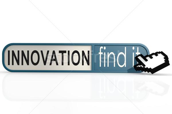 Сток-фото: инновация · слово · синий · находить · баннер · изображение