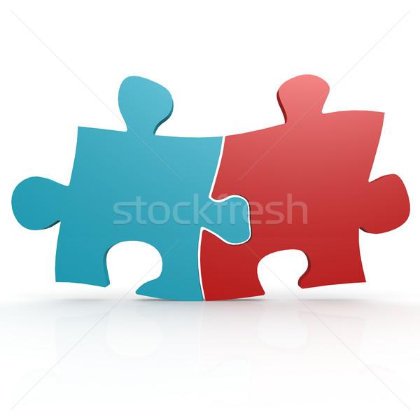 синий красный головоломки изображение оказанный Сток-фото © tang90246