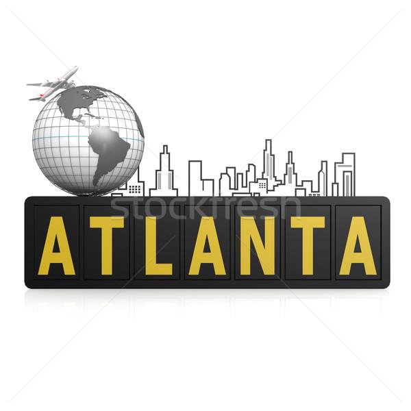 Atlanta stad wereldbol aarde reizen stedelijke Stockfoto © tang90246