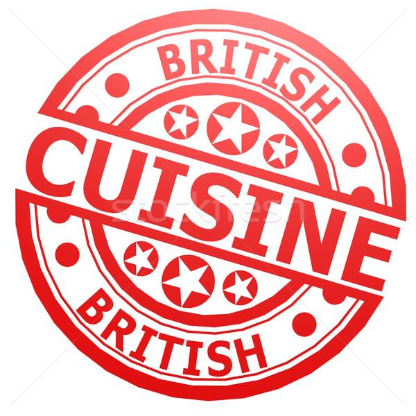 英国の スタンプ 食品 キッチン 調理 ストックフォト © tang90246