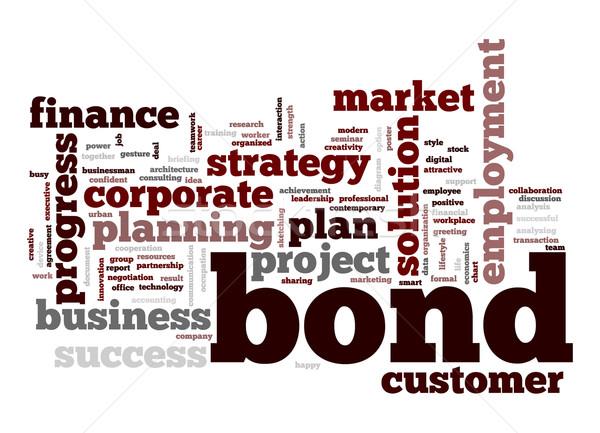Bond word cloud Stock photo © tang90246