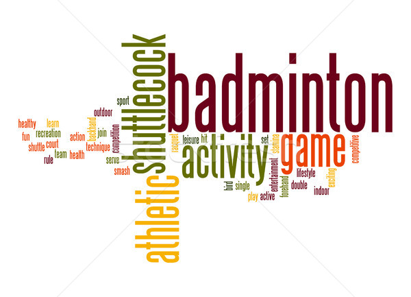 Badminton word cloud Stock photo © tang90246