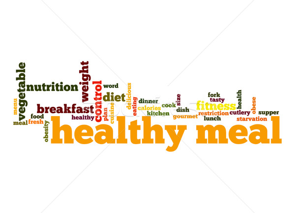 Stock photo: Healthy meal word cloud