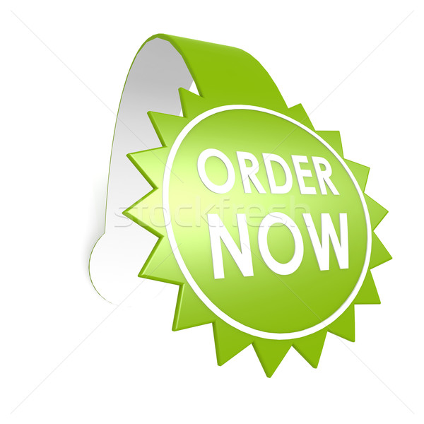 Order now star label Stock photo © tang90246