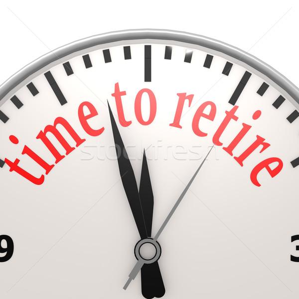 Tempo andare in pensione business clock vita lavoro Foto d'archivio © tang90246