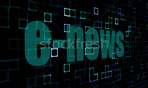 Pixelated words E-news on digital background Stock photo © tang90246