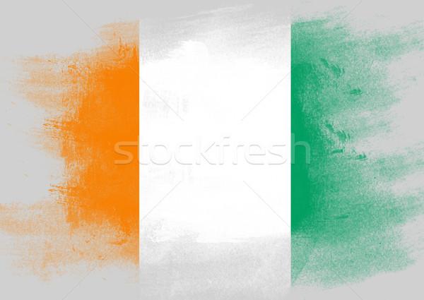 флаг Берег Слоновой Кости окрашенный щетка твердый аннотация Сток-фото © tang90246
