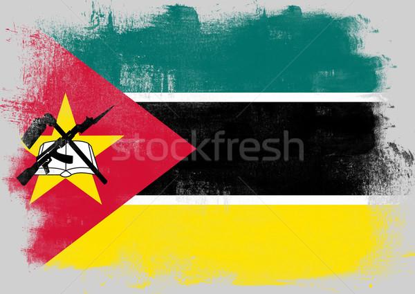 Bandeira Moçambique pintado escove sólido abstrato Foto stock © tang90246