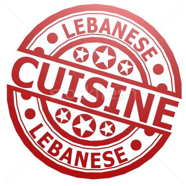Lebanese cuisine stamp Stock photo © tang90246