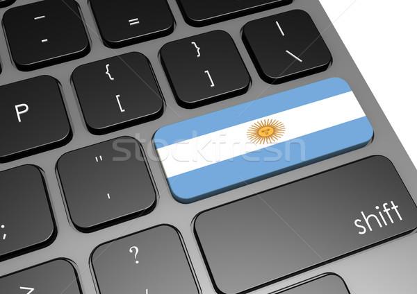 Stock fotó: Argentína · billentyűzet · kép · renderelt · mű · használt