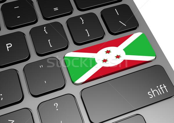 Burundi teclado imagem prestados usado Foto stock © tang90246