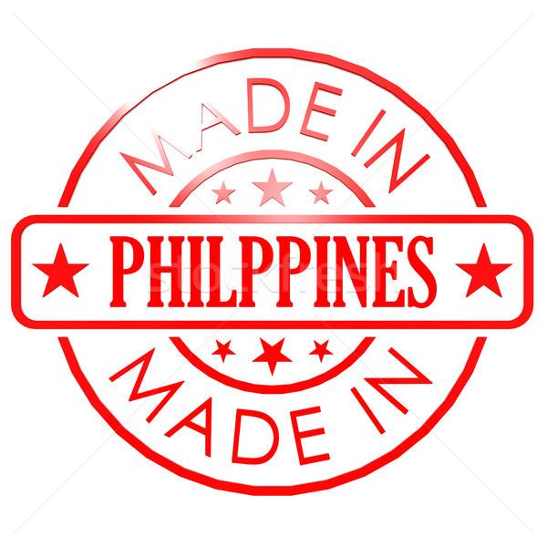 Filipiny czerwony pieczęć działalności papieru projektu Zdjęcia stock © tang90246