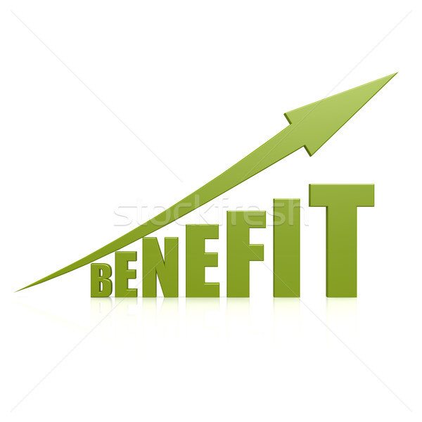 Benefit green arrow Stock photo © tang90246