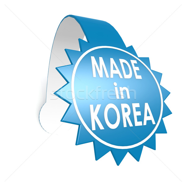 Made in Korea star label Stock photo © tang90246