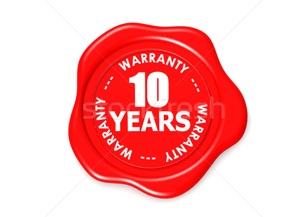 Ten years warranty seal Stock photo © tang90246