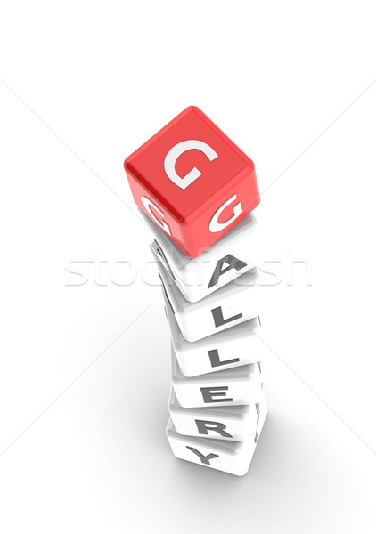 Gallery puzzle word Stock photo © tang90246