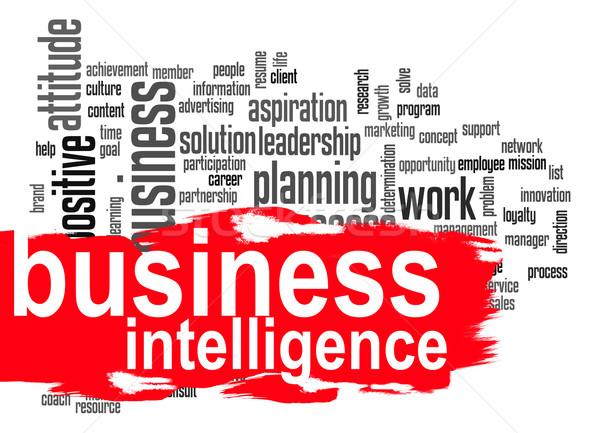 ビジネス インテリジェンス 言葉の雲 赤 バナー 画像 ストックフォト © tang90246