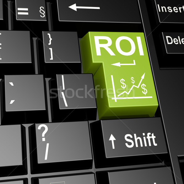 ROI word on the green enter keyboard Stock photo © tang90246