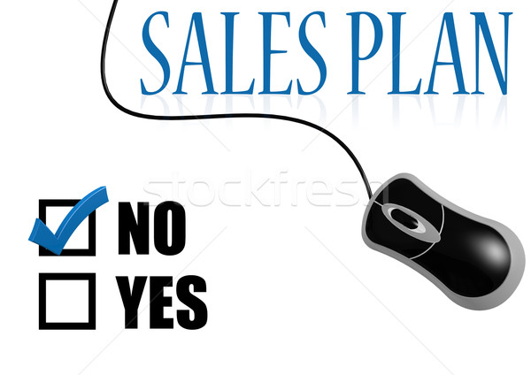 No sales plan with mouse Stock photo © tang90246
