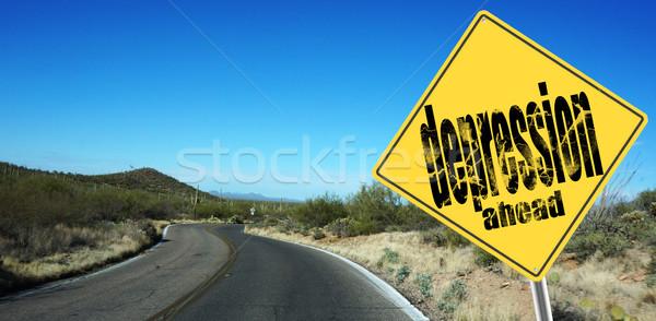 Depression crisis sign Stock photo © tang90246