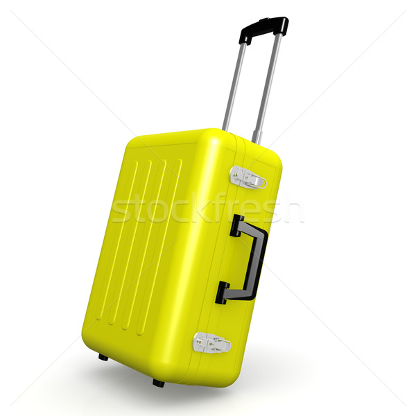 Yellow luggage in angle position Stock photo © tang90246