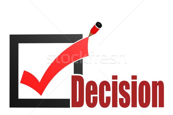 Sprawdzić ocena decyzja słowo obraz świadczonych Zdjęcia stock © tang90246