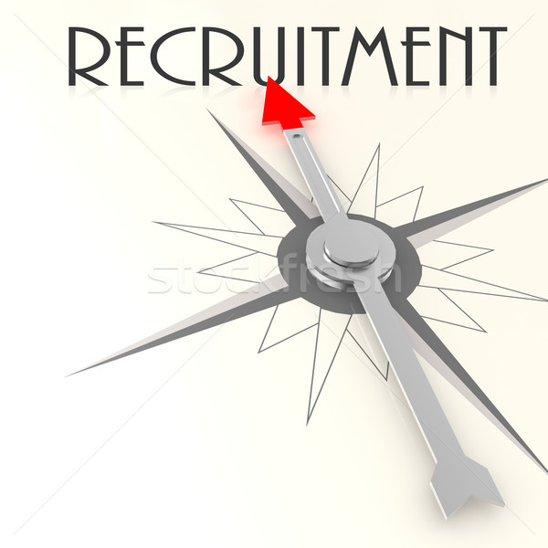 Compass with recruitment word Stock photo © tang90246