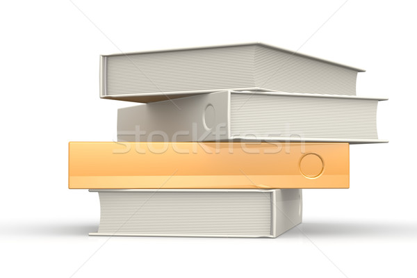 スタック 図書 孤立した 画像 レンダリング ストックフォト © tang90246