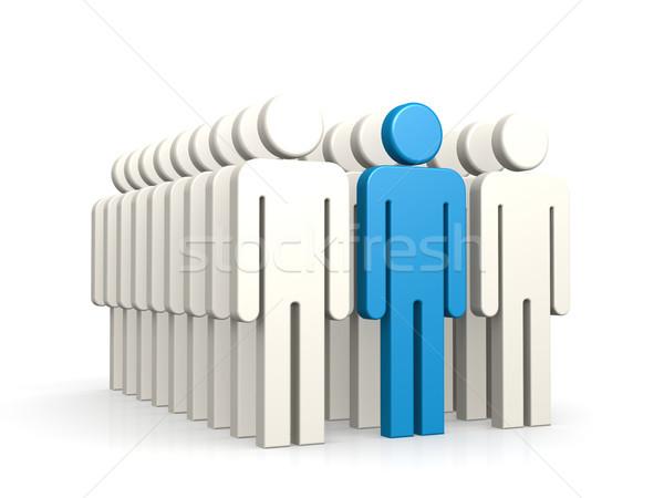 Blu leader gruppo 3D successo Foto d'archivio © tang90246