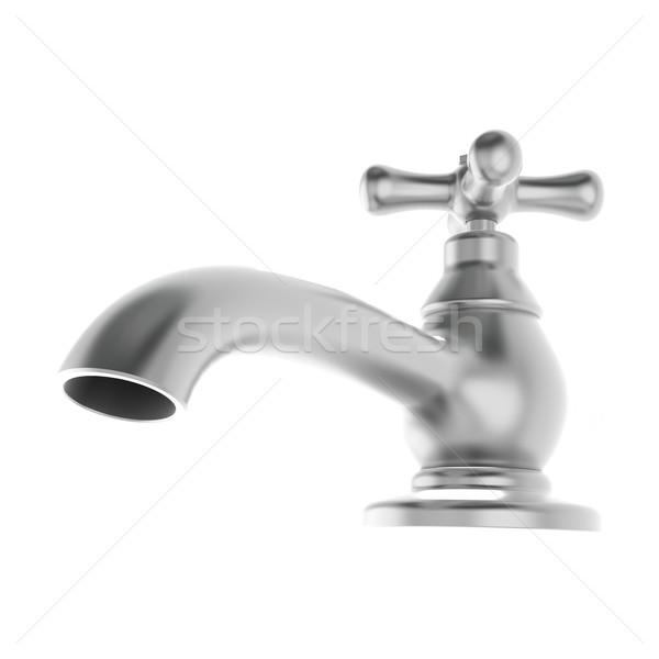Watertap water metaal pijp tik zilver Stockfoto © tang90246